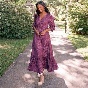 Gal Meets Glam Cassandra V-Neck Maxi Dress 4